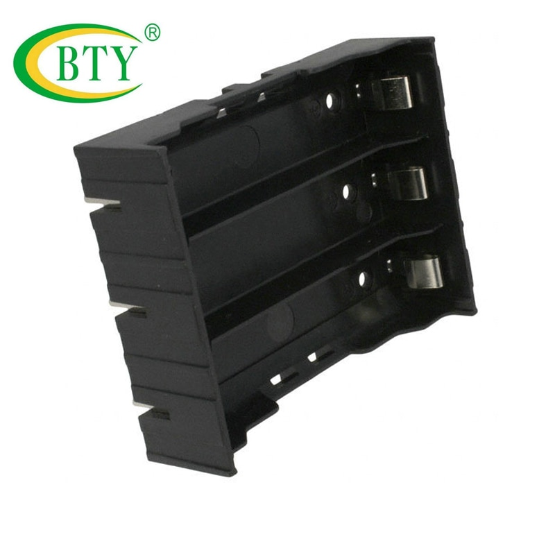 10pcs BTY New For 4x18650 Li-ion Batteries Black Plastic 3.7v 18650 Battery Box Storage Holder Box Case Free Shipping