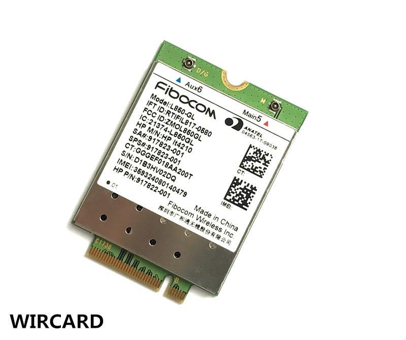 L850-GL LT4210 FDD-LTE TDD-LTE Tarjeta 4G 4G módulo SPS #917823-001 para 430 de 440 de 450 G5 Notebook
