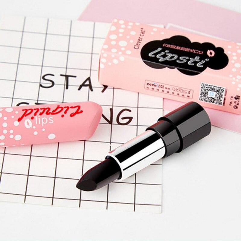 Black temperature Change Red Lip Stick Matte Color Change Lipstick Balm Moisturizing Makeup Lips Care Soy lecithin Lips