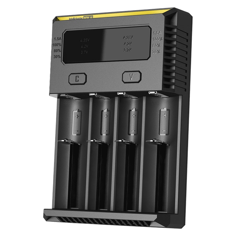 Nitecore novo i4 carregador inteligente intellicharger baterias carregador para li-ion/imr nicd 16340 10440 aaa 14500 18650 26650 baterias