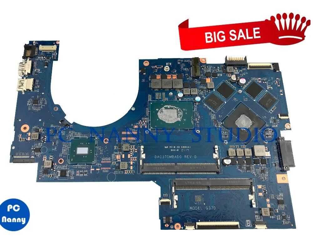 Pcnanny 915550-601 915550-001 para hp 17-ab 17-w placa-mãe do portátil dag37dmbad0 4 gb i7-7700HQ testado