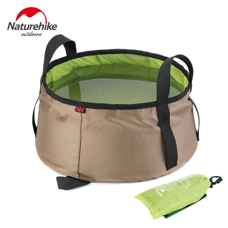 Naturehike складное ведро для воды для кемпинга, умывальник, рыболовное ведро, 10 л, сумки для воды