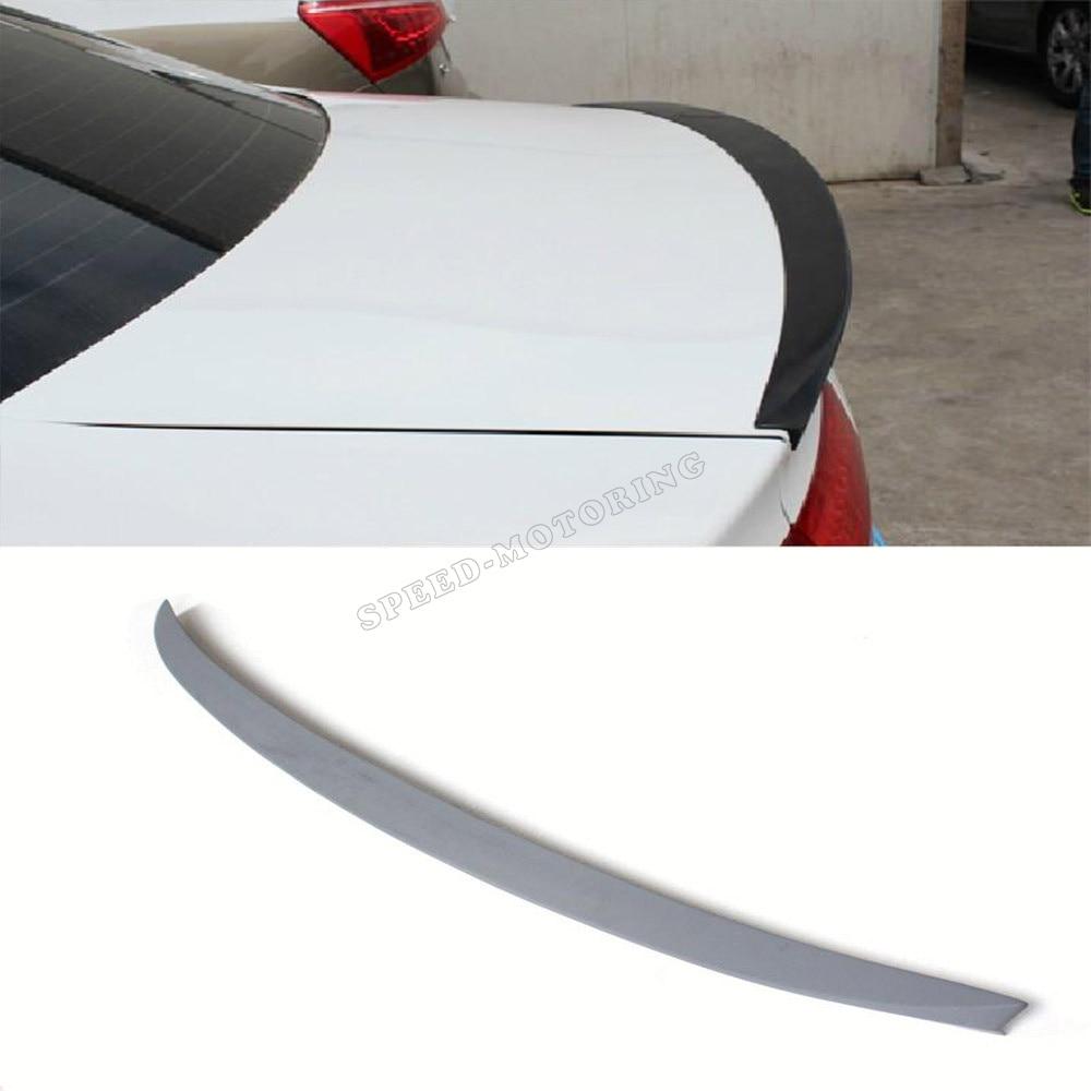 Hinten stamm spoiler boot flügel lip für Audi A4 B8 B9 2009 - 2013 Unlackiert grau grundierung PU
