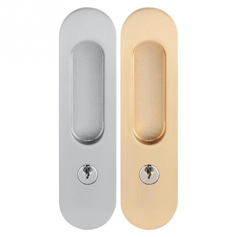 انزلاق الباب قفل إخفاء مقبض الداخلية باب سحب قفل الحديثة مكافحة سرقة غرفة الخشب الباب قفل ل الحظيرة أثاث خشبي