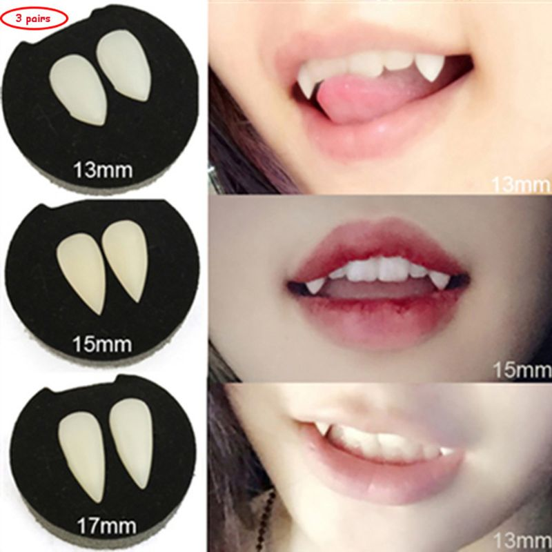 Kids Halloween Party Costume Horrific Dress Vampire False Teeth Fangs Dentures Cosplay Photo Props Favors DIY Decorations