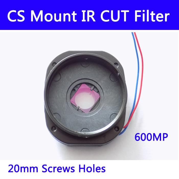 10 stücke/l CS-Mount IR Cut filter doppel filter switcher für cctv IP AHD kamera 6MP tag/nacht 20MM objektiv halter 7214