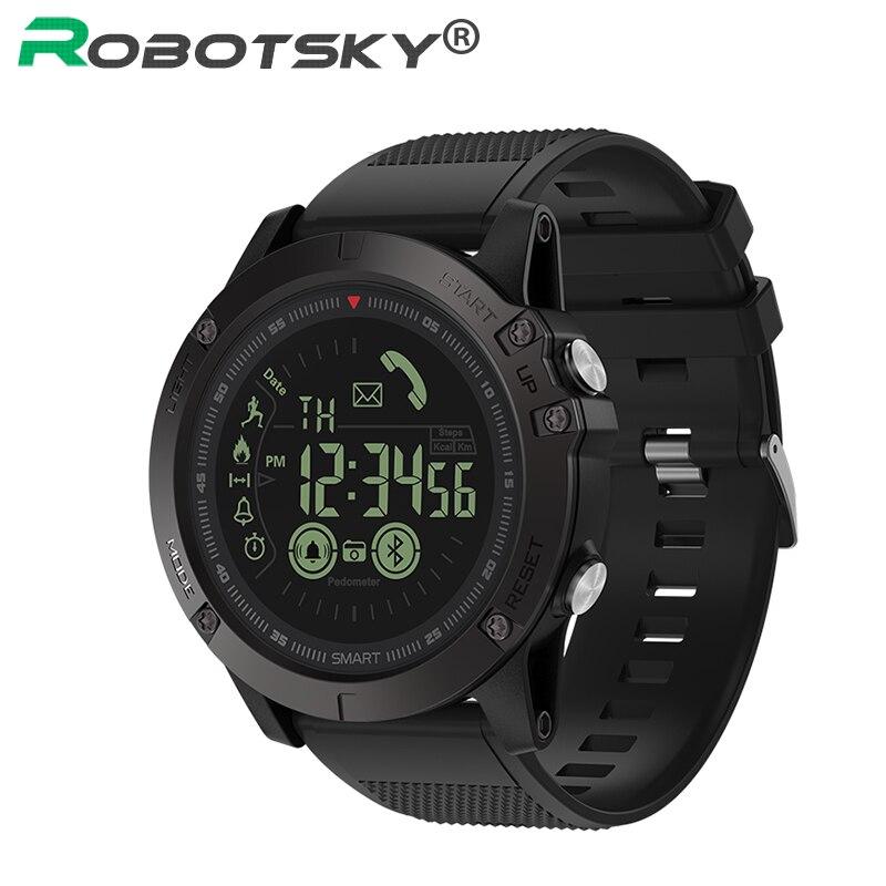Reloj inteligente de cristal resistente 33 meses de tiempo de espera 24h control todo el tiempo reloj inteligente impermeable deportivo Bluetooth para Android IOS