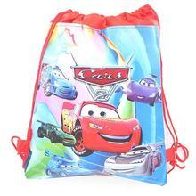 1pcs High Quality Disney Cars Cotton Drawstring Bags Kid Favor Travel Pouch Storage Clothes Shoes Ba