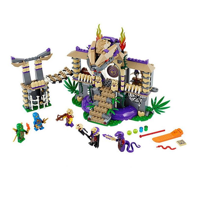10324 Enter The Serpent Building Blocks 70749 Bricks Ninja Ninjagoed Figuras Assembling Toys Model for Children 70749