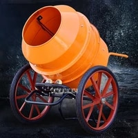 upgrade small household concrete mixer construction site cement mortar mixer electric feed mixing machine 220v 650w 400l 22rmin