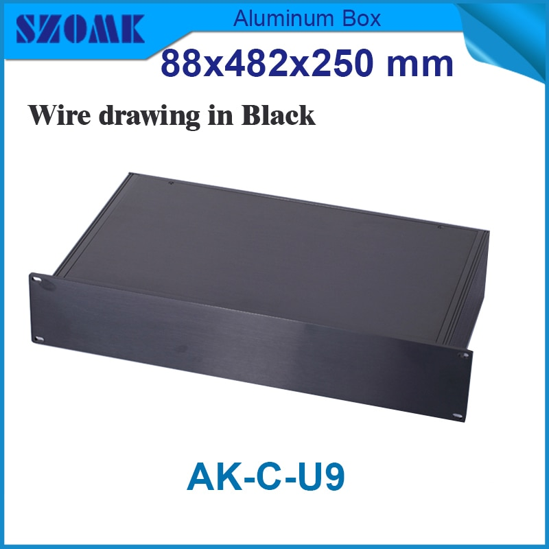 Szomk مقذوف الألومنيوم مرفقات الالكترونيات تقاطع الإسكان لل pcb design19 بوصة رف أداة 88 (h) x482 (w) x250 (l) m