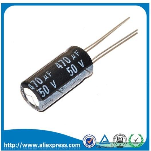 10 шт. 50В 470 мкФ 50В/470 мкФ Алюминиевые Электролитические Конденсаторы размером 10*20 мм 470 мкФ 50В электролитический конденсатор