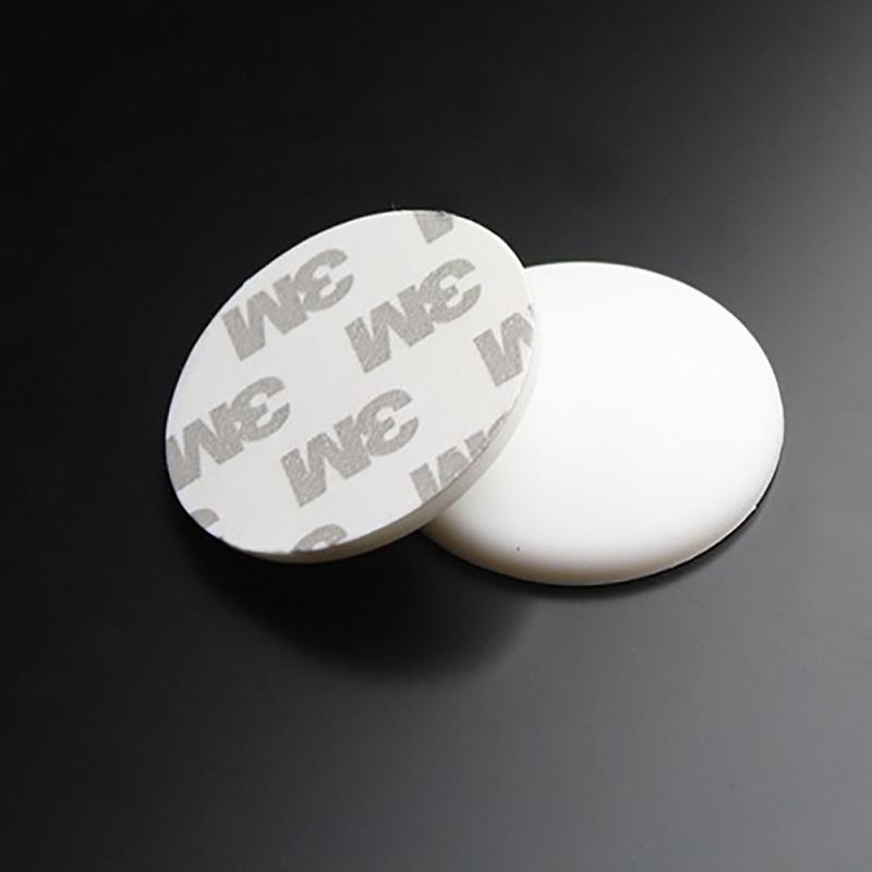 4*0,8 cm práctico de silicona auto Adhesivo de pared Anti colisión Mat manija de la puerta Protector Gards parachoques adhesivo almohadillas tapón de ruido