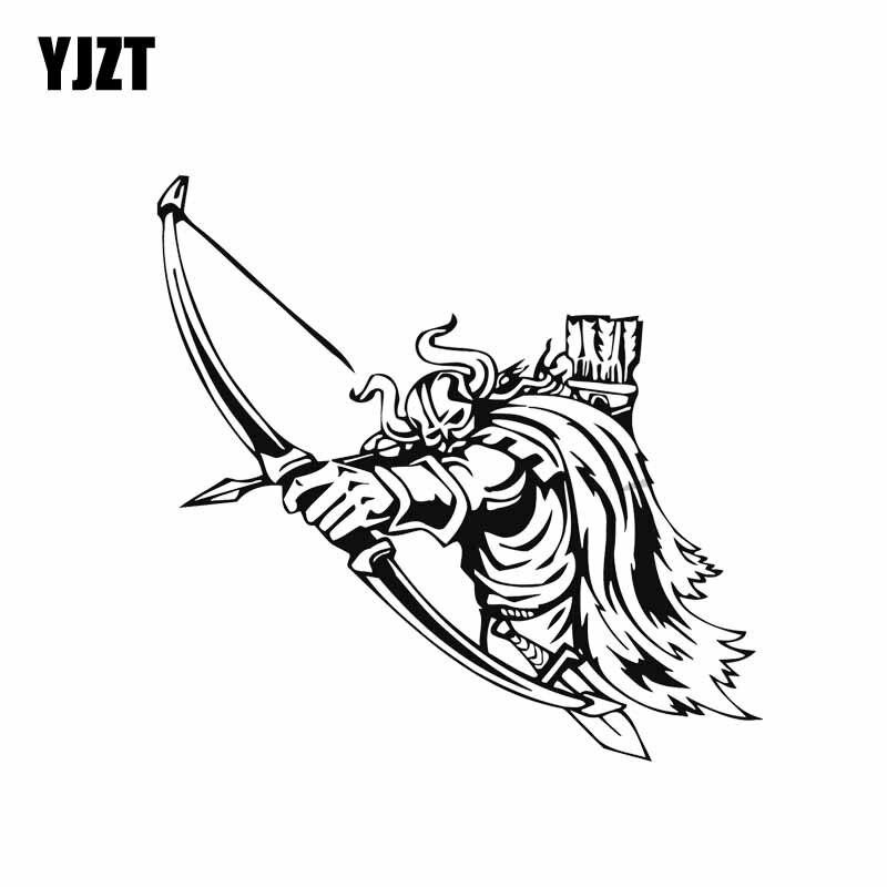 Yjzt 13.6*13.2 cm corajoso forte legal viking guerreiro cobrindo o corpo moda carro adesivo decalque preto/prata vinil C20-1669