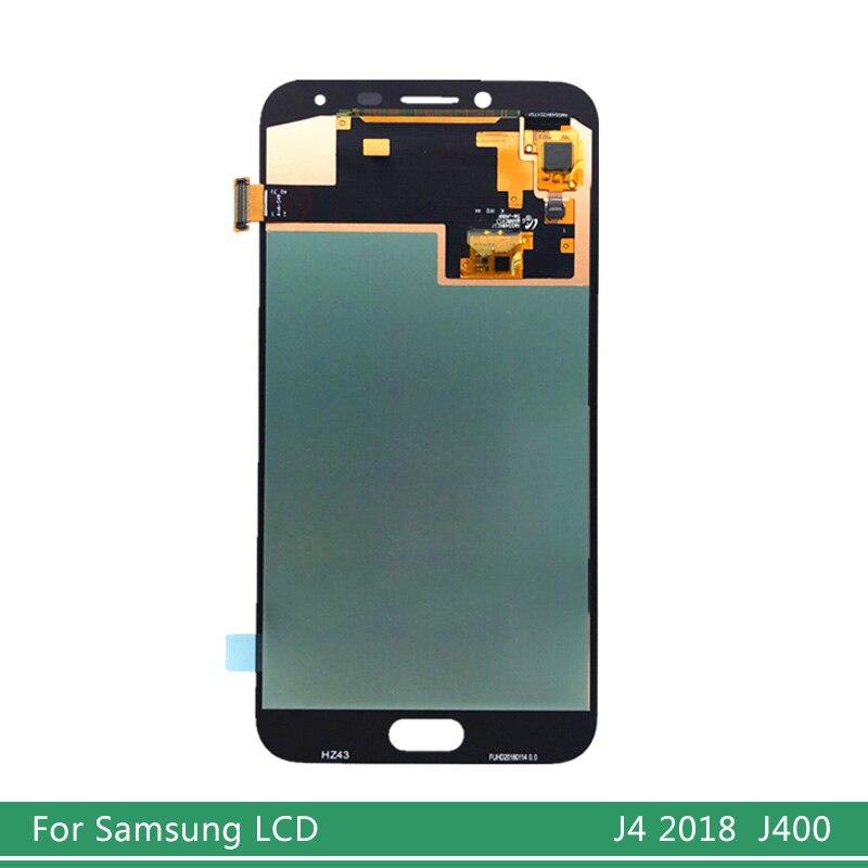 Super AMOLED SM-J400F LCD para SAMSUNG Galaxy J4 J400 J400F/DS J400G/DS pantalla LCD Touch pantalla digitalizador montaje reemplazo