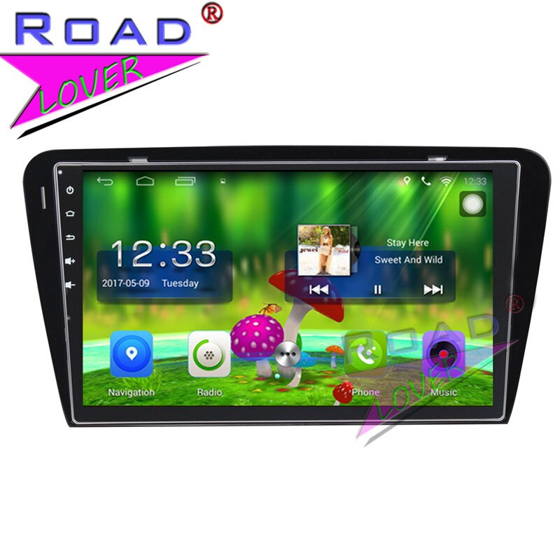 "TOPNAVI Android 6,0 2G + 32GB 10,1 ""PC Centro de Medios de jugador para Skoda Octavia 2015 GPS estéreo vídeo, navegación SIN DVD MP3"