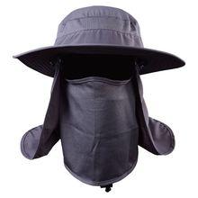 Rabat de pêche casquettes hommes femmes coupe-vent pare-soleil détachable/amovible oreille cou couverture pêcheurs chapeau tenue de ville accessoire