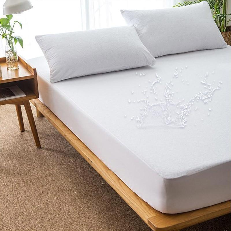 Funda de colchón resistente al agua, resistente al polvo, elástica, Protector de colchón, Colchon, lavable a máquina, transpirable, Sábana de cama