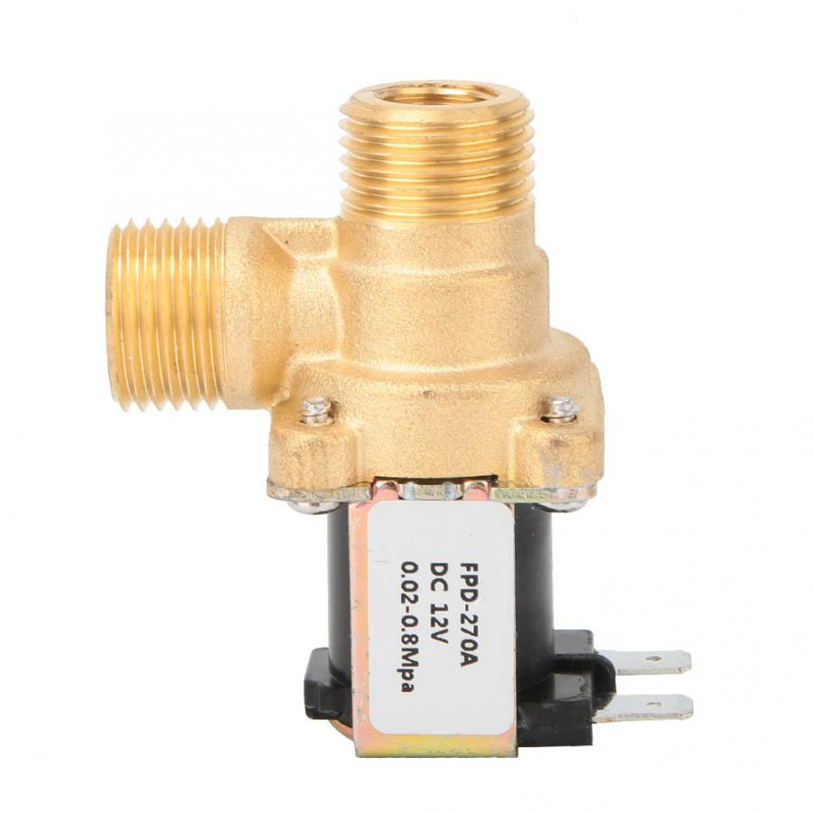 "Válvula electromagnética de latón de 1/2 "", normalmente cerrada, interruptor de entrada de agua DC12V/DC24V/AC220V"