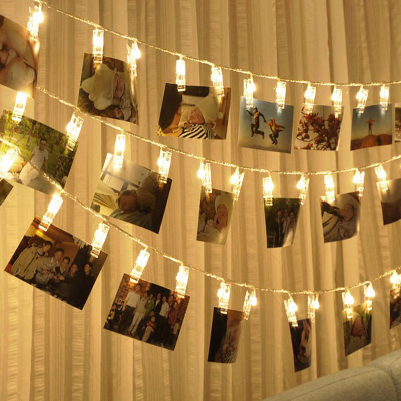 3M, 20 luces LED para fotos, guirnalda de luces para boda, fiesta, Navidad, decoración para interiores del hogar LB88