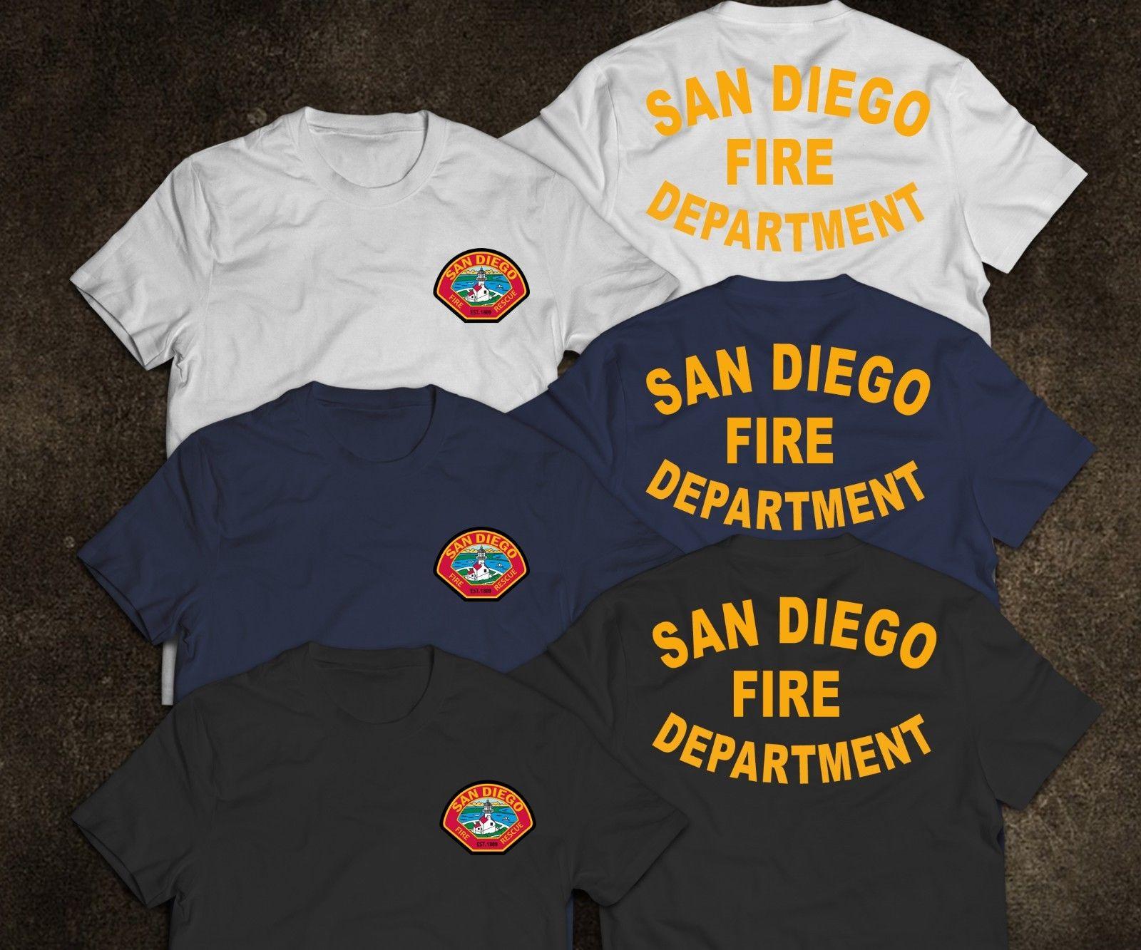 2020 nueva camiseta a la moda del Departamento de Bomberos de San Francisco, camiseta de arma de fuego rara