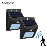 20 светодиодный s светодиодный светильник на солнечной энергии, для крыльца, с ИК-датчиком движения, светодиодный, диодный, настенный светиль...