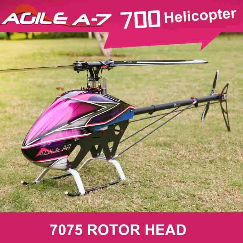 Nuevo Producto 3D RC helicóptero KDS ágil A7 700 de 2,4 GHz 6CH RC helicóptero Kit encaja