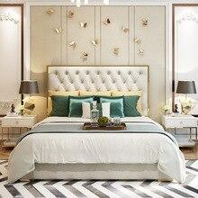 Lit en cuir Post-moderne léger et luxueux avec lit Double de 1.8 m et lit de mariage de 1.5 m