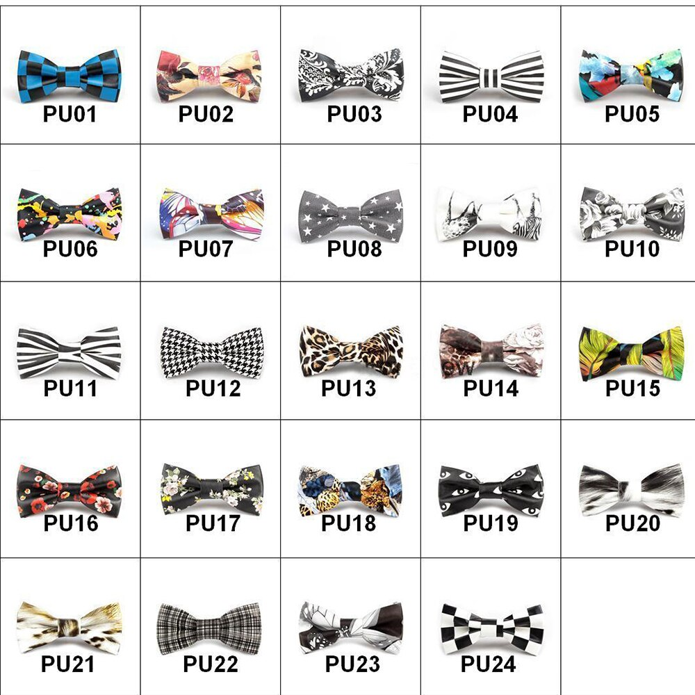 2019 New High Quality  Men Bow Tie Leopard Eyes Zebra Printing Fashion Ties Slim Print Bowties for Men Party Brand Gift Box