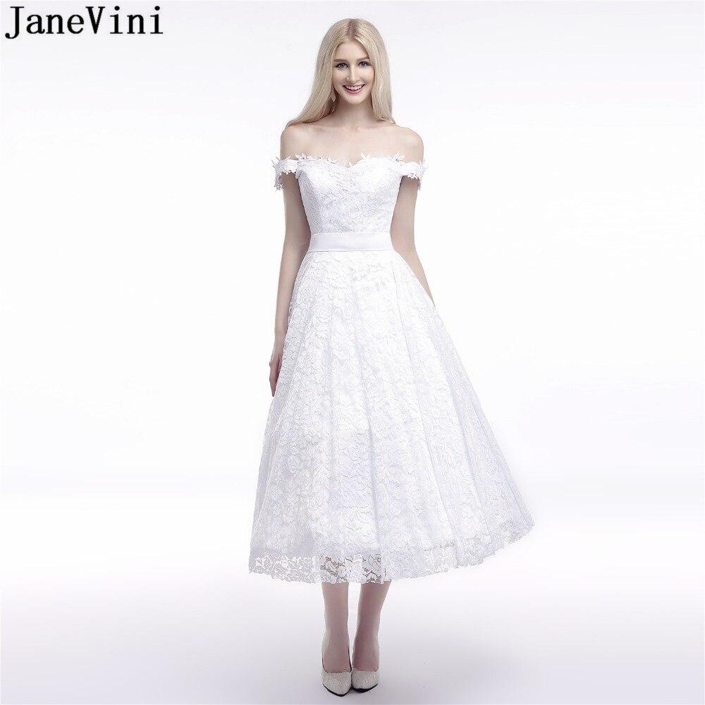 Vestidos De Novia De encaje blanco 2019 De JaneVini Vestidos De Novia...