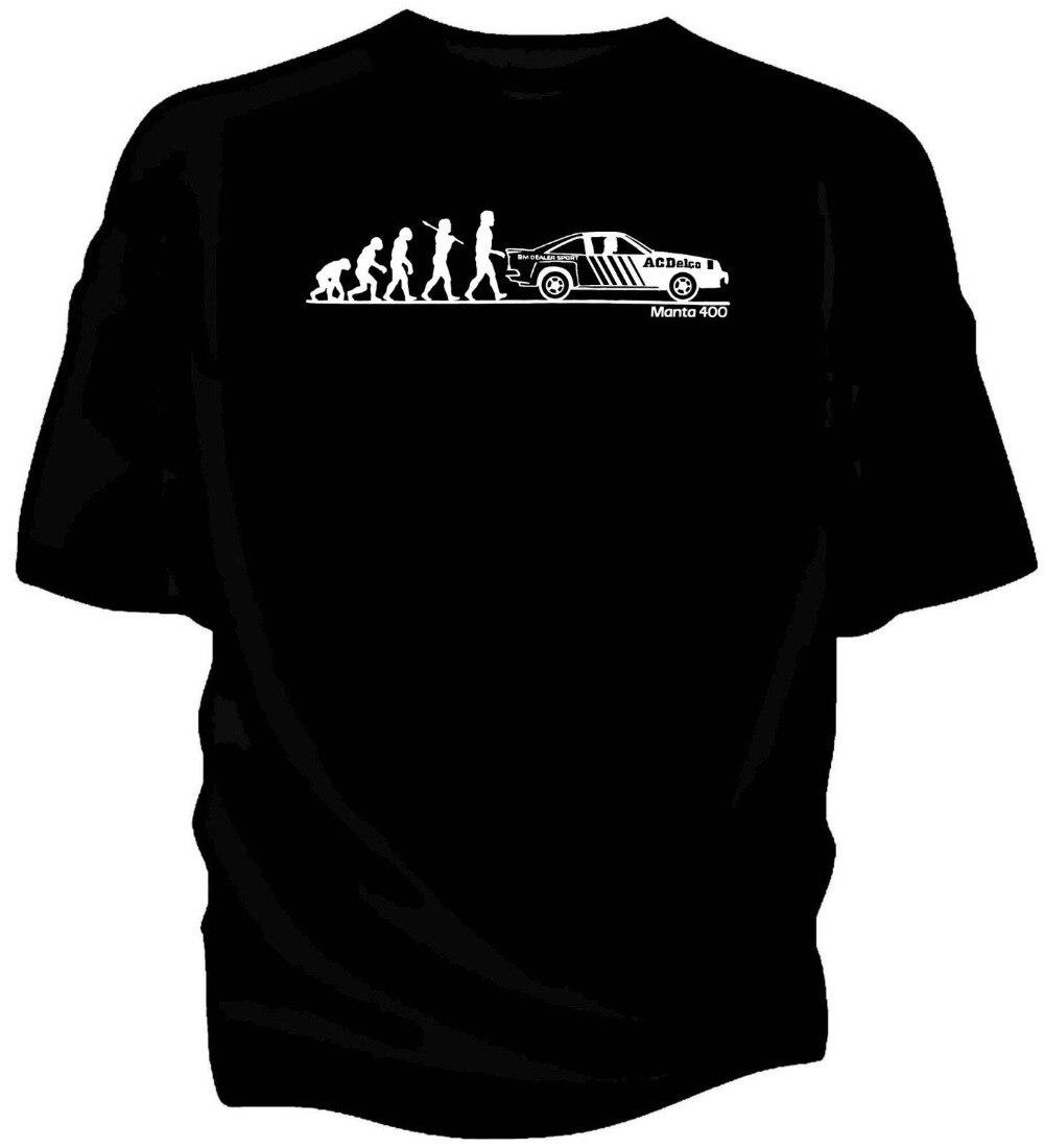 Evolución del hombre Opel Manta 400 Grupo B Rally Clásico coche camiseta Camiseta 2019 nueva camiseta de hombre ropa suelta camisetas baratas