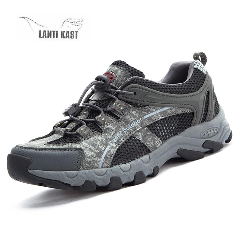 Zapatillas de deporte al aire libre para hombre, zapatos de senderismo para hombre, transpirables, deportes al aire libre, zapatos tácticos de malla para escalar, zapatos de montaña de verano para Trekking