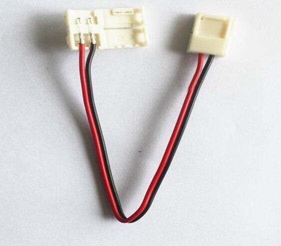 8 مللي متر/10 مللي متر 2 دبوس Led قطاع موصل ل لون واحد Led قطاع 3528/5050 سهلة ربط 100 قطعة/الوحدة لا حاجة لحام موصلات
