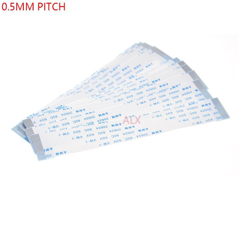 10PCS FPC סרט גמיש שטוח כבל המגרש 0.5MM 100MM-סוג 4P 6P 8P 10P 12P 16P 20P 30P 40P FFC חוט 6/10/12/16/20/30/40 פין