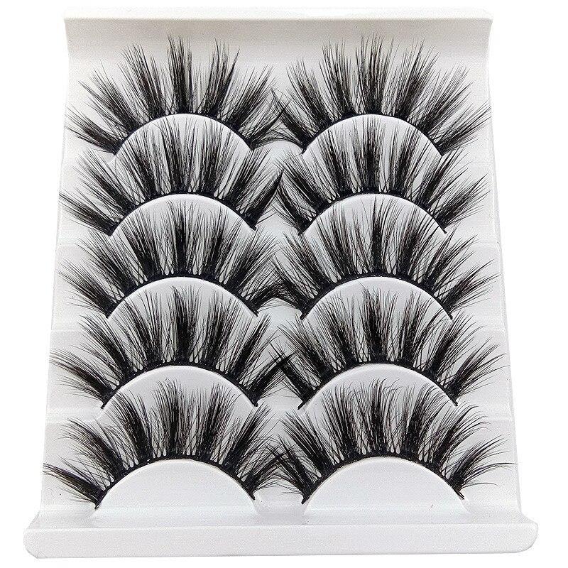 2019 New 5 pairs Pure Hand Cotton False Eyelashes Soft Natural Thick Fake Eyelashes 3D Three Dimensional Makeup Tools Eyelashes недорого