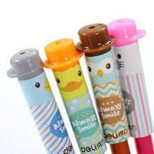 4 Pcs/Lot Pencil Cap Cute Kawaii Silicone Pencil Grip Cartoon Pencil Extender Pen Toppers Students Stationery
