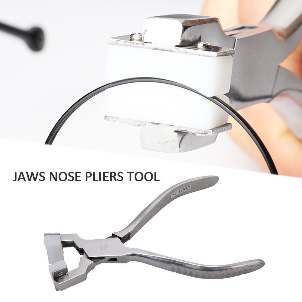 Nueva herramienta de mantenimiento de gafas alicates curvos marco de Metal herramienta de reparación de joyería #40