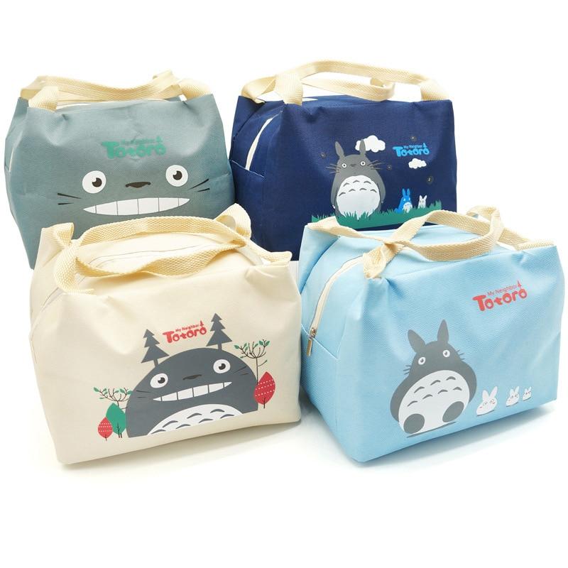 Bolso de Totoro aislado con botella de leche para bebé, momia, calentador de dibujos para viajes al aire libre, bolsas de comida para mujer, bolso de almuerzo impermeable MY0048