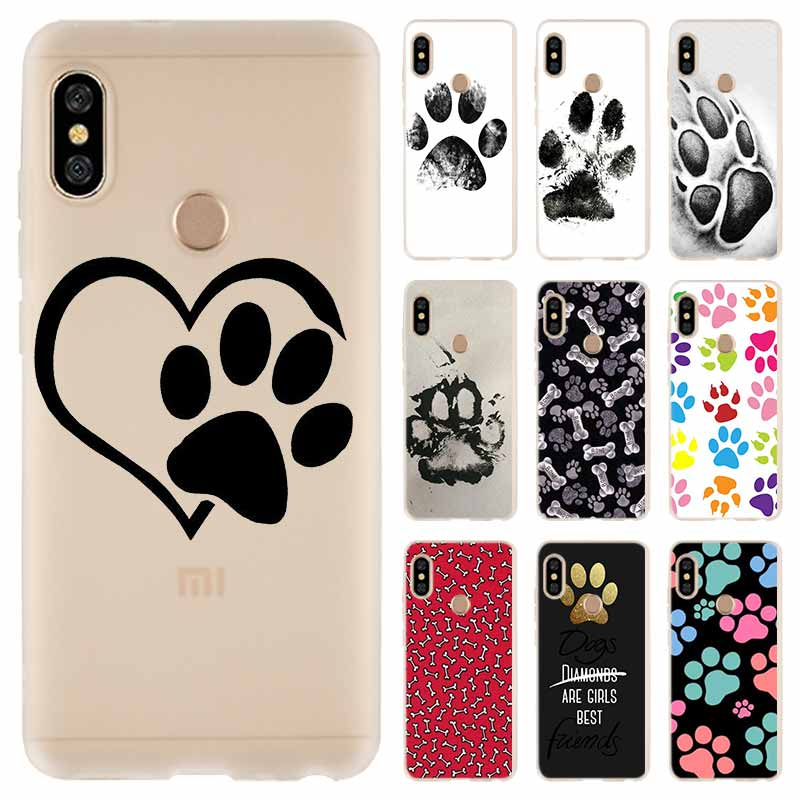 Case For Xiaomi Redmi Note 8 7 6 5 pro Cover for Redmi 8 8a 7a 6a s2 5a 5 Plus 4a 4x Dog paw print