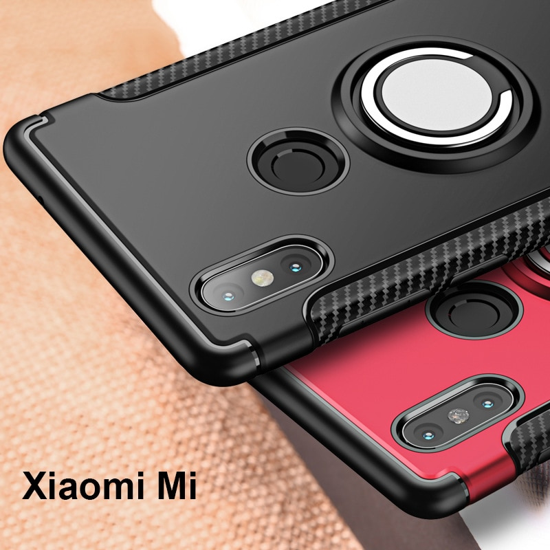 Finger Ring 360 Full Protect Case For Xiaomi Mi Mix 2S Mix 2 / For Xiaomi Mi Note 3 Max 3 A1 A2 Cove