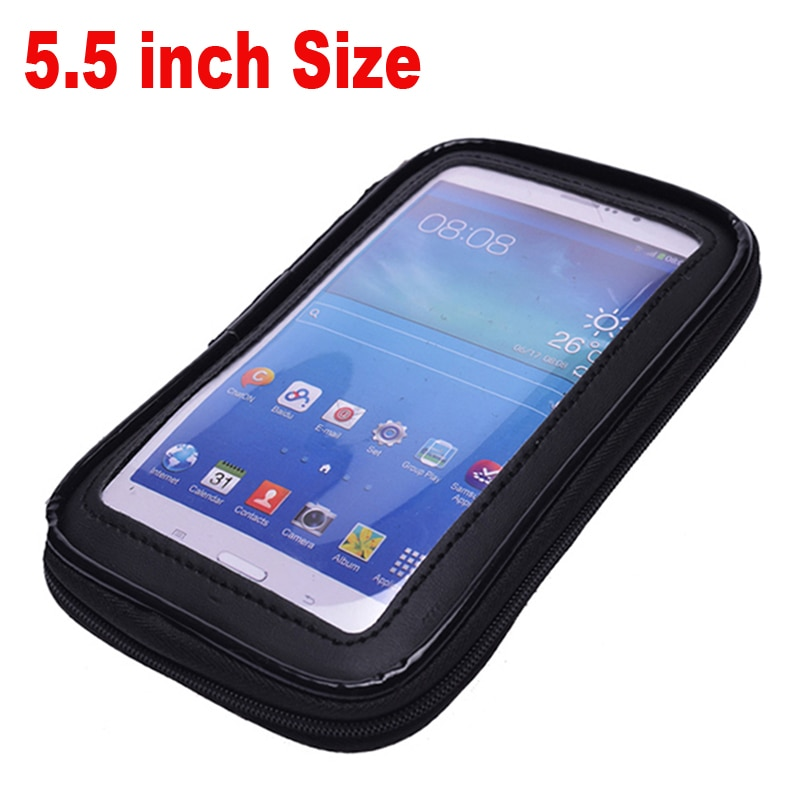 Soporte de teléfono móvil para motocicleta y bicicleta de 5,5 pulgadas para Samsung Note 1 2 3 iPhone6 6S 7 Plus, bolsa impermeable con soporte para bicicleta GPS