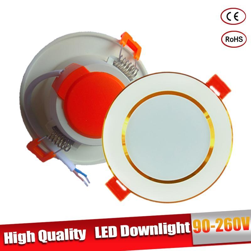 Luz descendente LED para Cocina, lámpara redonda empotrada de 110V para 220V...