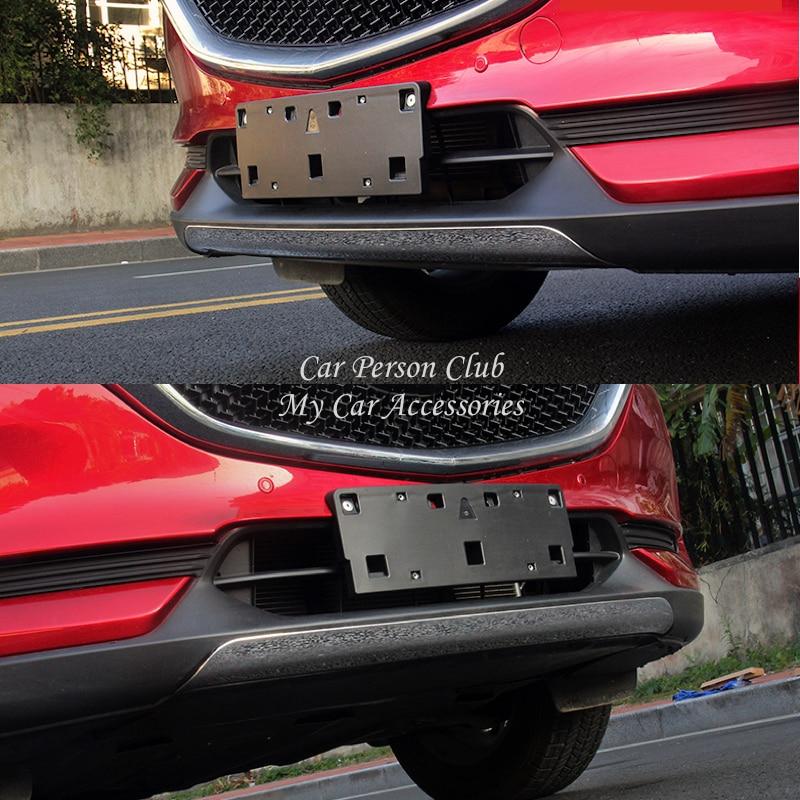 Para Mazda cx-5 CX5 2017 2018 para parachoques de labio delantero, cubierta de tiras de parrillas, embellecedor de marco de lentejuelas, accesorios para decoración de coche de acero inoxidable
