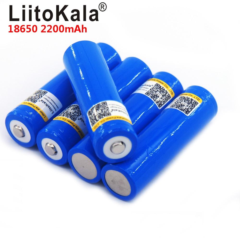 LiitoKala 18650 Battery 3.7v 2200mAh Capacity Battery Li-po Rechargeable 18650 Battery For Car/toys/Flashlight