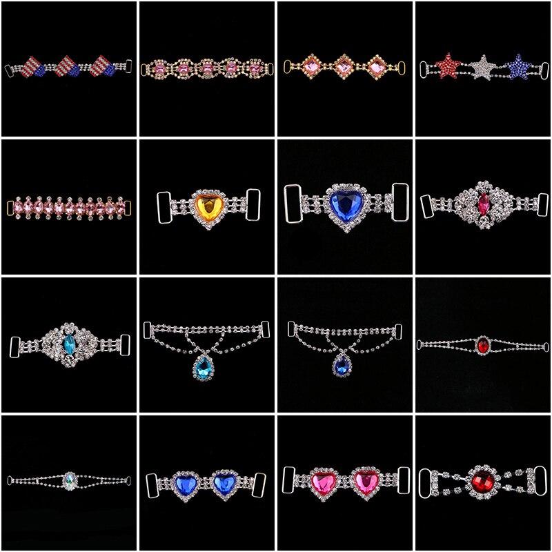 6 styles (optional) Shiny Crystal Rhinestone bikini connectors buckle/clothing decoration buckle Beachwear Diamante  connector