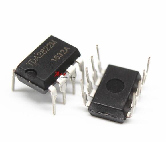 AMPLIFICADOR DE POTENCIA DE AUDIO TDA2822/SCS (3-6 V) TDA2822M DIP-8 10 Uds