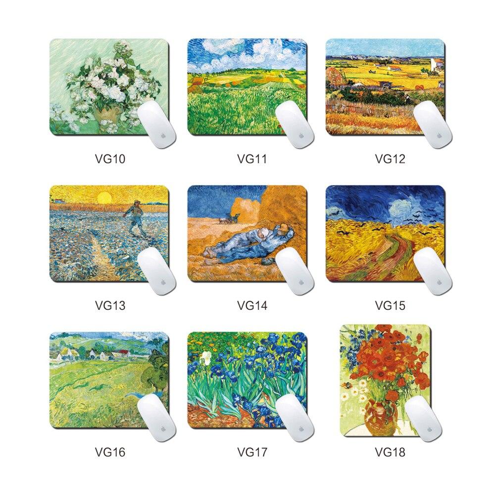 Alfombrillas de ratón para juegos Van Gogh, alfombrilla para el ratón de diseño, alfombrillas para ordenador portátil, oficina, escuela