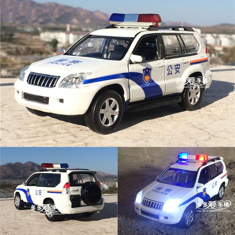 1:32 Toyota prado X6 F150 police alloy car model patrol wagon car acousto-optic SUV with pull back  for boy toy free shipping