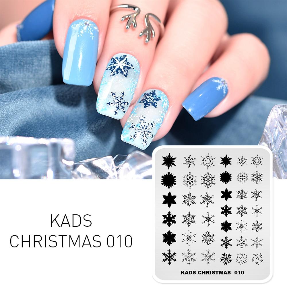 KADS Navidad placas de estampado para manicura Plantilla de estampado de manicura placas de imagen Placa de estampado de uñas plantilla para impresión herramienta de Arte de uñas