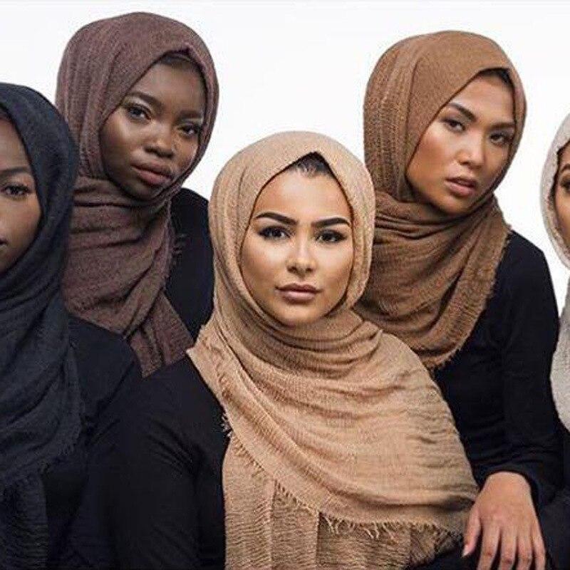 Classical Premium Viscose Maxi Crinkle Cloud Hijab Scarf Shawl Soft Islam Muslim Scarves 500PCS/lot